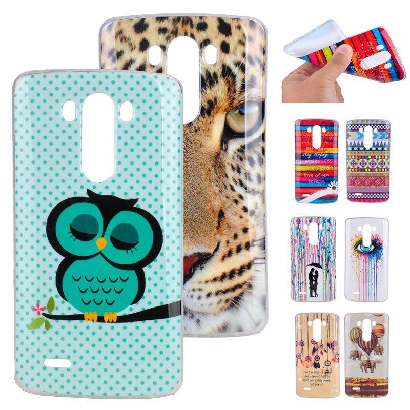 G3 Case Owl Tiger Aztec Tripe Soft TPU Gel Phone Cases for LG Optimus G3 D855 D850 Back Skin Cover Phone bags For LG G3 case(Hong Kong)