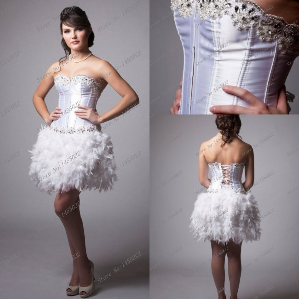 Short Feather Dresses