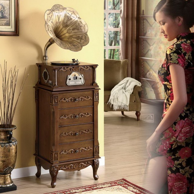 Nobility graphophone home decoration graphophone cd player classic old fashioned music machine antique phonograph