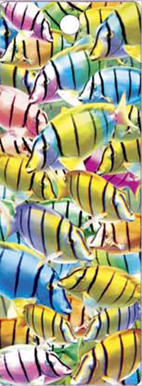 (180 Pieces/Lot,30 Designs) 3D Lenticular Bookmark Colorful Fish(China (Mainland))