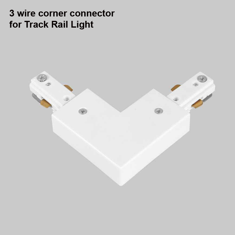 3 Wire Light Rail Track Connector Corner Connectors 3-wire Track fitting Global Track Rail Light led track rail connector<br><br>Aliexpress