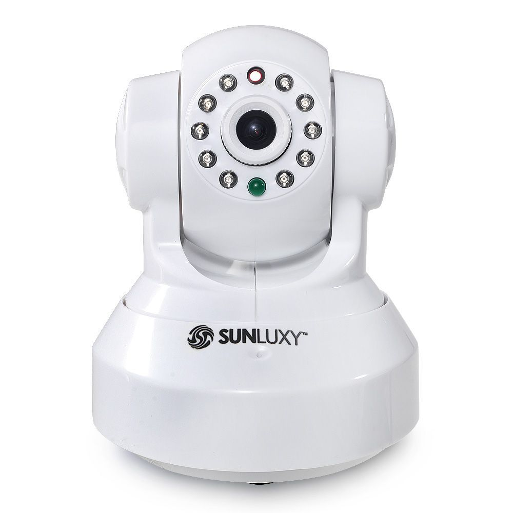 Sunluxy H.264 1.0MP HD 720P IP Camera P2P Pan IR Cut WiFi Wireless Network IP Security Camera(China (Mainland))