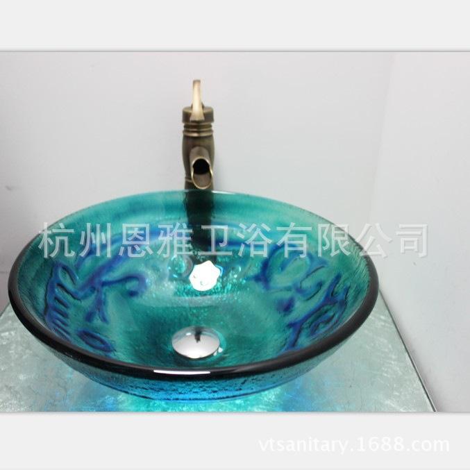 Lavabos Vidrio Para Baño: lavabos / mesa de vidrio pintado / art cuenca / lavabo baño lavabo N