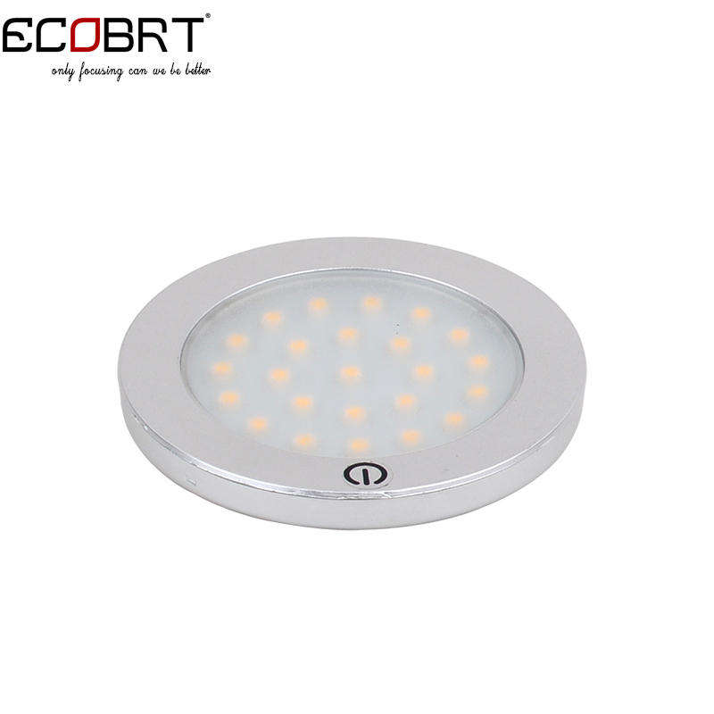 12v Spotlight New 3w Smd3528 Led Touch On Under Cabinet Lights Round Surface Furniture Showcase Sensor lighting10pcs/lot(China (Mainland))