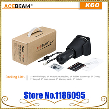 ACEBeam K60 Cree XHP70 LED 5000lm 704m Magnetic Ring Flashlight Torch, Designed for military, Law Enforcement, Hunting, Search