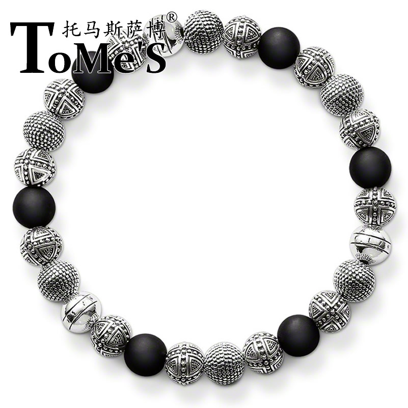 Free shipping 2016 new arrival Ts bracelet a1272-023-11 silver plated thomas saab style fashion bracelet for men(China (Mainland))