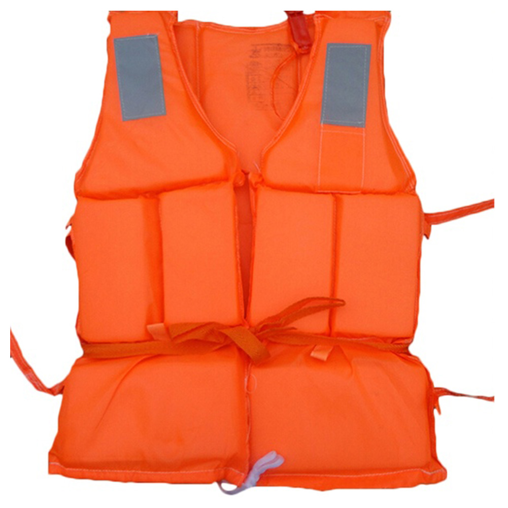 Orange Prevention Flood Fishing Rafting Drift Sawanobori Adult Foam Life Jacket Vest Flotation Device + SOS Whistle(China (Mainland))