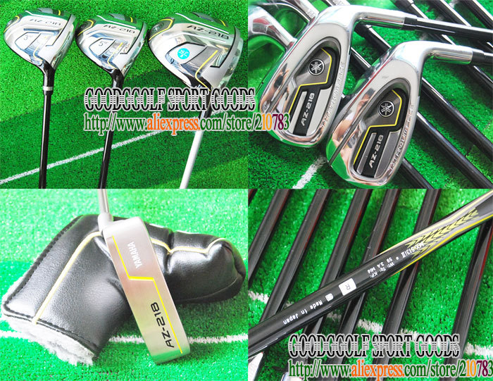 New Golf Clubs AZ-218 Golf Driver+2Fairway wood+irons+Putter Complete Club Set Golf Graphite shaft Wood Head cove Free Shipping(China (Mainland))