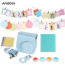 Andoer 6in1 Instant Film Camera Accessory Bundles Bag/Photo Album/Close-Up Selfie Lens/Colors Lens Fujifilm Instax Mini8 8s - Official Store store