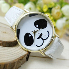 Hot Marketing  Faux Leather Band Watch Fashion Panda Quartz Wrist Women Watch Sep4