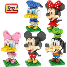 Buy LOZ Micky Family blocks Diamond Building Blocks Models Minnie Donald Duck Goofy Mini Action Figure Educational Toy children for $11.90 in AliExpress store