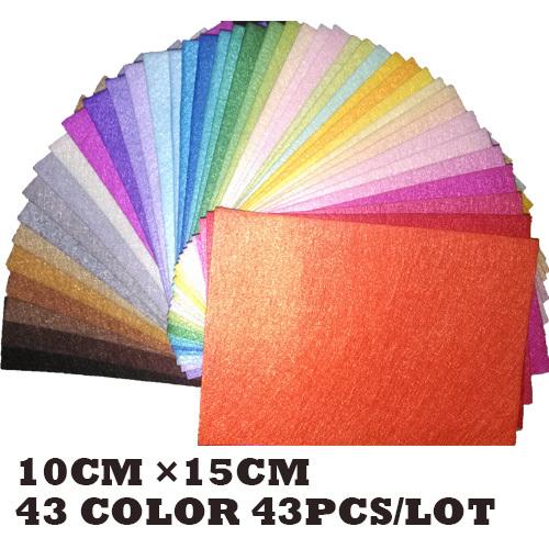 43 colors polyester acrylic nonwoven Fabric,needlework,diy,needle,sewing,handmade, non-woven felt fabric Fieltro feltro(China (Mainland))