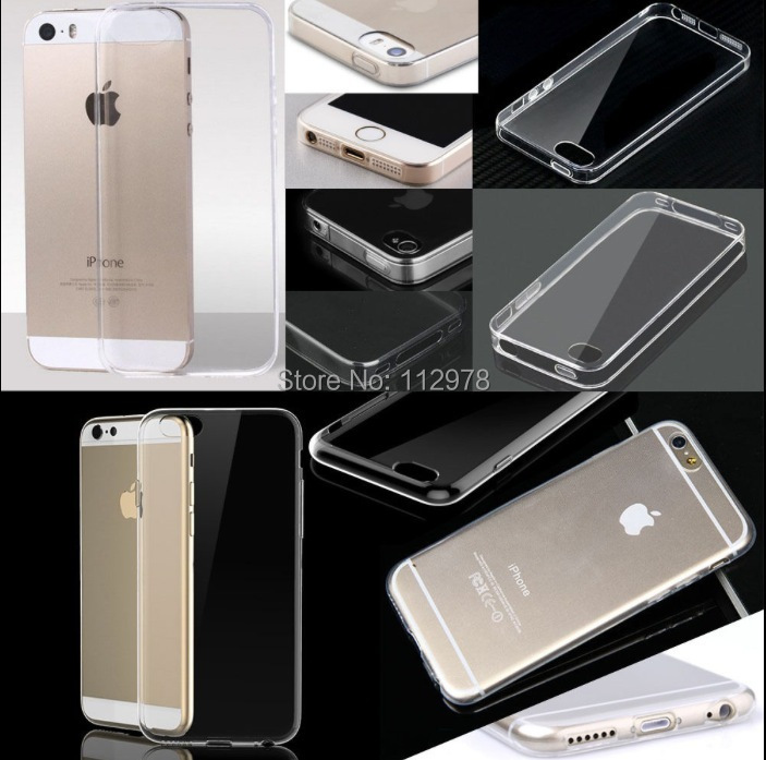 50iPhone 4 4s 5 5s 6 4.7 inch / Plus 5.5 0.5mm Ultra Thin Slim Crystal Clear Transparent Soft Silicone TPU Case Cover - Our Shop store