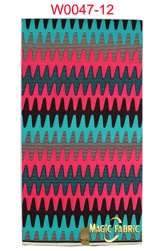 African Fabric Hollandais super Wax Printed Fabric Real Wax 100%Cotton! Popular design good quality 6yards/lot W0047-12(China (Mainland))