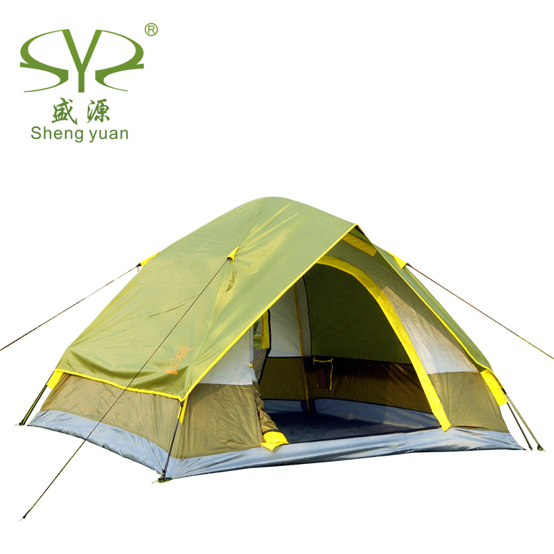 Via DHL 210*210*120 cm Folding Double Layer Fiberglass Waterproof Automatic Tent Camping