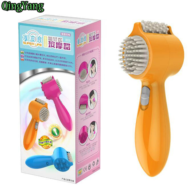 HOT&NEW Blooming Visage Massager Electric Vibrating Roller Wheel Tooth Comb Massager Super Life Brain Comfort Massager &QY 115(China (Mainland))