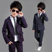 2015 nuovo bambino di disegno da sposa formale vestito scozzese per i ragazzi di marca 5-14 anni ragazzi blazers capretti del vestito da partito da sera smoking, c008(China (Mainland))