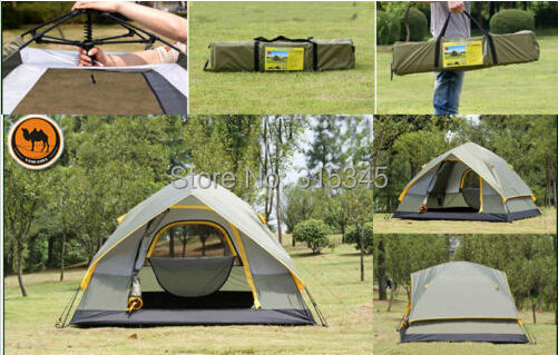 Camel Outdoor Hiking Professional 2 People 4-Season Family Cabin Tent(China (Mainland))