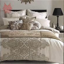 Home textile European style luxury print tribute silk bedding sets cotton/silk duvet cover Bed sheet Pillowcase 6pcs/lot SP1395(China (Mainland))