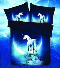 محب غالاكسي 3d مجموعة مفروشات الكون الفضاء الخارجي موضوعه غالاكسي طباعة أغطية السرير غطاء لحاف و سادة القضية bedclothes70(China)