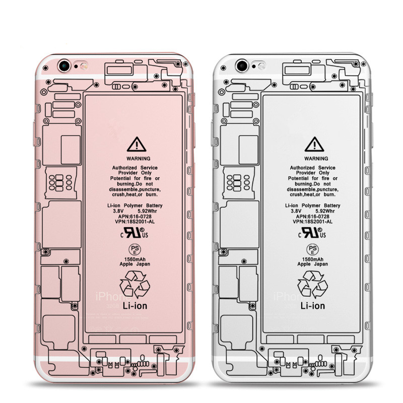 New Fashion Disguise Disassemble Phone Case For Apple Iphone 6 6 Plus Case Transparent Soft Tpu Back Cover(China (Mainland))