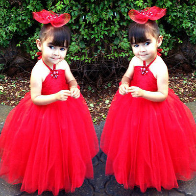 2015 Hot Girl Kid Gown Wedding Prom Baby Flower Princess Party Lace Dress(China (Mainland))