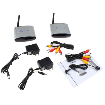 [110V US Plug version] 150M 2.4GHz  Audio Video AV Wireless Transmitter receiver IR remoter - Support 4 groups of channels