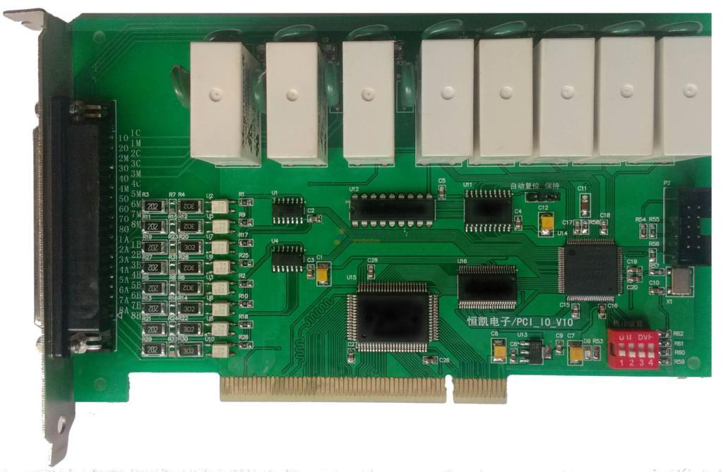 PCI BUS IO Card, 8 Relay Output 2A, 8 Isolated Digital Input Module, LED Indicator(China (Mainland))