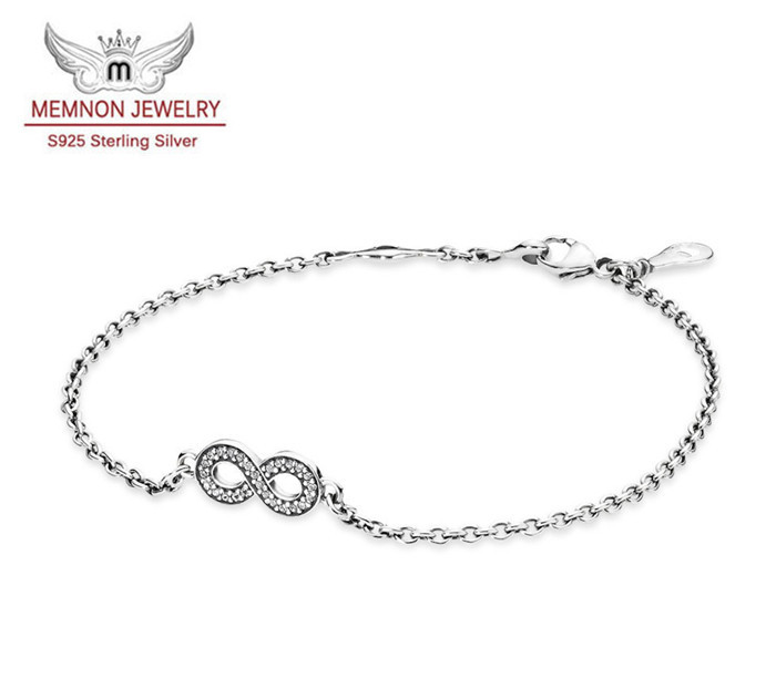 Fine jewelry 925 sterling silver jewelry bracelets for women & men jewelry diy summer style bracelet with CZ Bracelet YL022