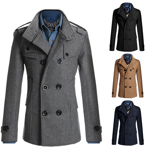 Fashion Men Jacket Winter Coat Double Breasted Peacoat Long Dress Top Men Clothing Free ShippingОдежда и ак�е��уары<br><br><br>Aliexpress