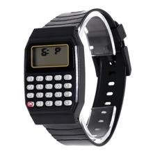 LEDนาฬิกาดิจิตอล2016ซิลิโคนสบายๆเด็กเด็กกีฬานาฬิกามัลติฟังก์ชั่เครื่องคิดเลขนาฬิกาข้อมือเด็กgirsl Relógioนาฬิกา