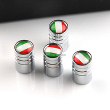 SE Lengthening Tire Valves Caps with Italy Flag Silver White Car Wheel Air Valve Stem Cycle Tyre Valve 4pcs/Set New Universal(China (Mainland))