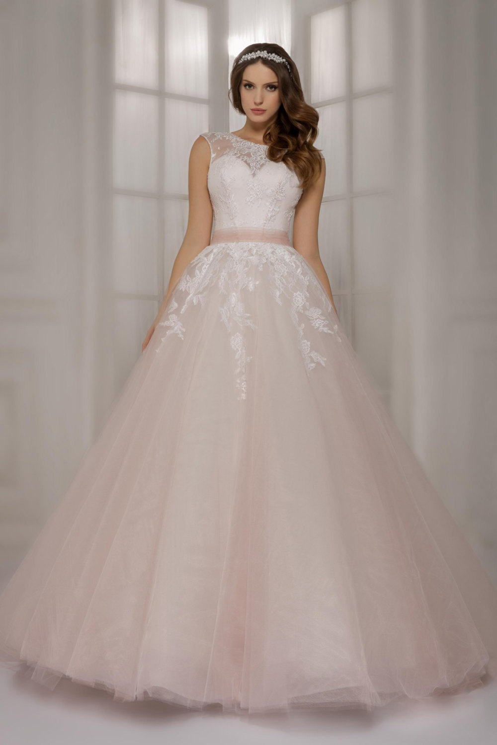 buy newest light pink lace ball gowns wedding dresses