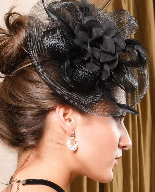 New 2013 Royal Fashion Fascinator Feather Flower Mini Cocktail Hat Bridal Hair Accessories For Women Couture Headpieces WIGO0154(China (Mainland))