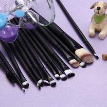 Free shipping 15pcs Pro Makeup Brush Set Kit Foundation Eyeshadow Mascara Lip Brush BSEL