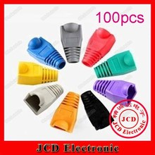 RJ45 Boot for Cat5e Cat6 Patch Cable networking boot cover rubber boot 100pcs/lot(China (Mainland))