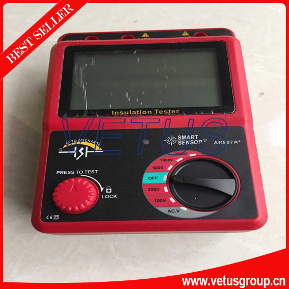 AR907A+ New 100-2500V insulation resistance meter with Accuracy +/-5%rdg+/-5%dgt<br><br>Aliexpress