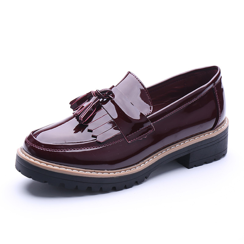 fashion 2016 womens oxfords shoes slip on faux