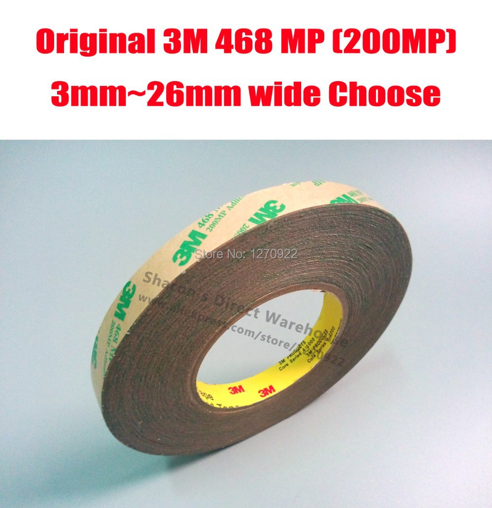 Original 3M 468 MP 200MP Transparent Double Sided Adhesive Transfer Tape for Metal PCB/ Graphic Attachment, Switch Phone Repair(China (Mainland))