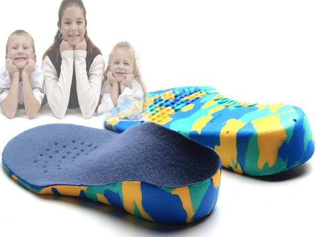 Детей ЕВА ортопедические стельки для обуви детей плоскостопие арка поддержка ортопедические ...