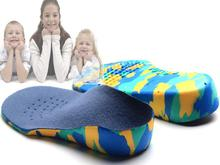 Kids Children EVA orthopedic insoles for children shoes flat foot arch support orthotic Pads Correction health feet care(China (Mainland))