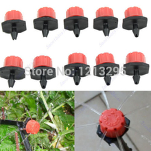 Y102 50pcs Garden Irrigation Misting Micro Flow Dripper Drip Head 1/4'' Hose(China (Mainland))