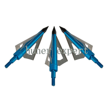 bow and arrow hunting archery broadhead 125 grain carbon arrow arrowhead 3 blade arrow tip free shiping 6pcs