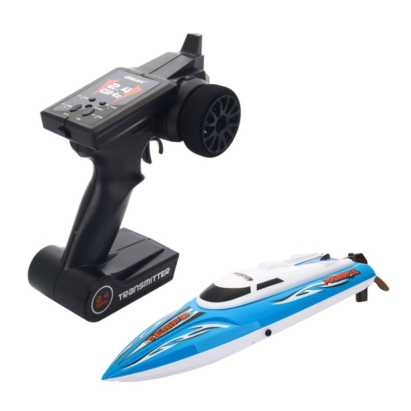 UDI012 2.4G 4CH Wireless Remote Control High Speed Large RC Racing Boat Blue(China (Mainland))