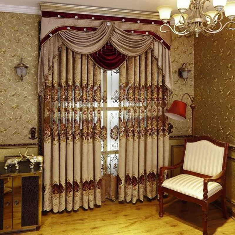 European Royal Luxury Curtains For Bedroom Window Curtains For Living Room Elegant Blinds Drapes