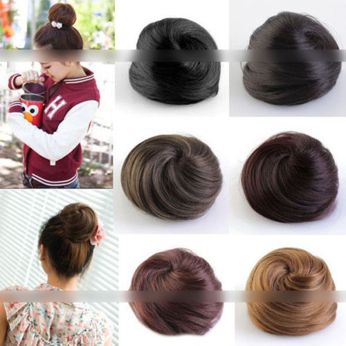 One PC Free Shipping Black/Light Brown/Dark Brown Clip In Hair Bun Hairpiece Hair Extension Sale(China (Mainland))