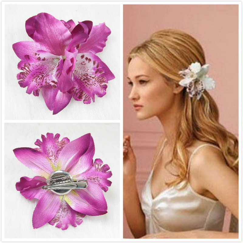 Lackingone & Hot Sale Bohemian Orchid Peony Flowers Hair Clips Hairpin Corsage Headwear Fashion Accessories Hair Accessories(China (Mainland))