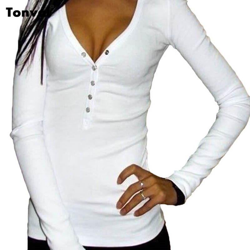 Tonval 2016 Women Casual Knitted Pullovers Sexy Sweaters Spring Autumn Slim Knit Tops Long Sleeve White Sweater 4 Colors(China (Mainland))