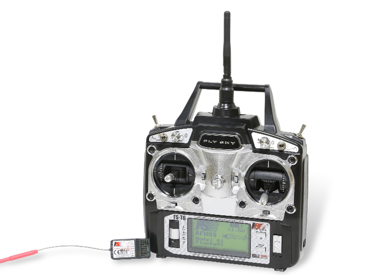 Original Flysky FS-T6 2.4G 6CH Planel Control w/ LCD Screen Transmitter + FS R6B Receiver RC Quadcopter Helicopter LED Screen
