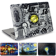 NEW Fashion laptop Case for MacBook Air 11 13 inch for APPLE MAC Pro with Retina 12 13.3 15 with Cut LOGO(China (Mainland))